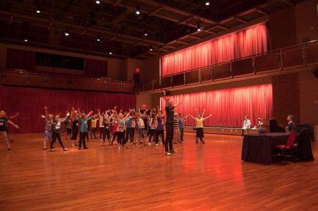 The kids strike one final pose with Associate Choreographer Jason Sparks.
