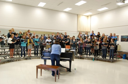 Students at Appleton North practice for the upcoming Fox Cities Choral Music Festival