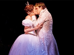 Paige Faure as Ella & Joe Carroll as Prince Topher in Cinderella. Production Images of Cinderella by Carol Rosegg