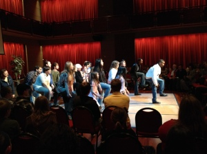 Patrons coming to see Step Afrika! get a lesson in the history of step before the show.