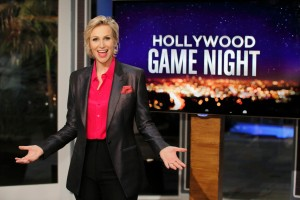 HOLLYWOOD GAME NIGHT -- Episode 104 -- Pictured: Jane Lynch -- (Photo by: Trae Patton/NBC)