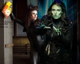 Idina Menzel in 'Rent' and 'Wicked' (Photos by Columbia Pictures & Joan Marcus)
